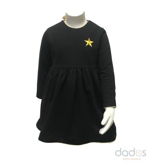 Mon Petit Bonbon vestido negro estella dorada