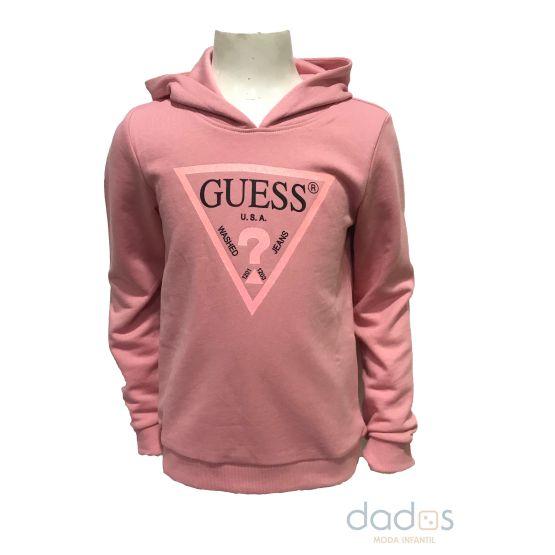 Guess kids sudadera rosa capucha