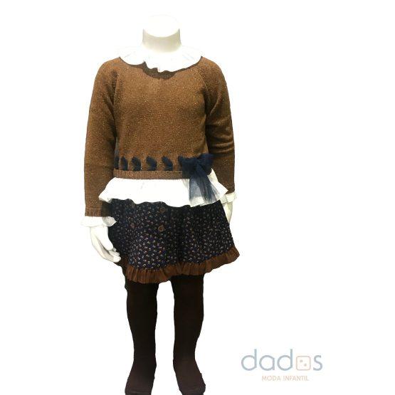Tutto Piccolo colección Phoenix falda, leotardos y jersey