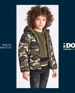 IDO chaquetón chico camuflaje reversible
