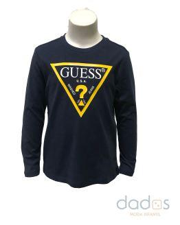 Guess kids camiseta marino triángulo amarillo
