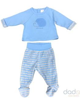 Tutto Piccolo conjunto azul erizo 2 piezas