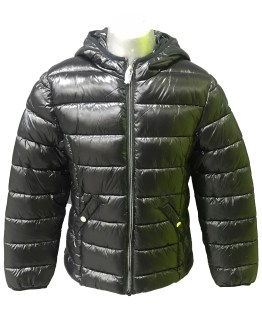 IDO chaquetón chica negro con capucha