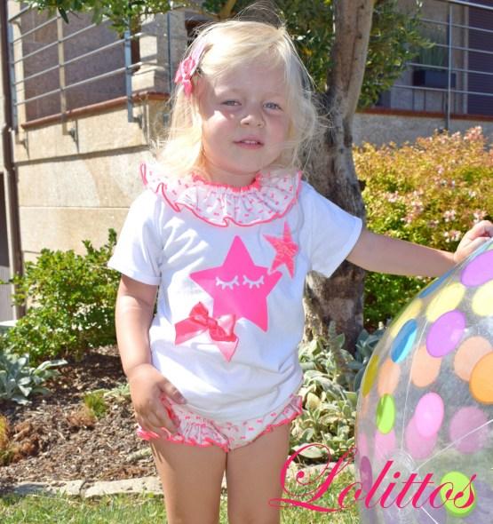 Lolittos colección Pink camiseta con cubre niña