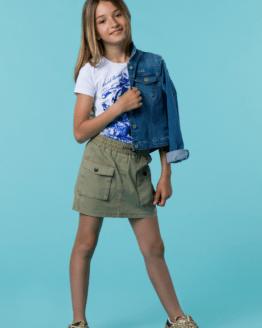 Catálogo Guess falda kaki bolsillos delanteros