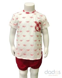 Lolittos colección barquito camisa con rana niño