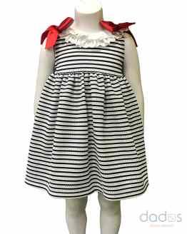 Mon Petit Bonbon vestido punto rayas marino