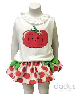 Mon Petit conjunto braga y camiseta tomates