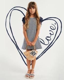 Elsy vestido rayas azul marino