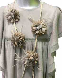 Bella Bimba collar Stela saco envejecido flores
