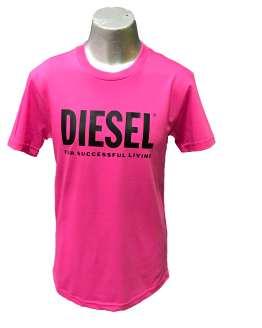 Diesel Camiseta chico fucsia logo