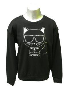 Karl Lagerfeld sudadera chica gato en relieve