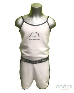 Karl Lagerfeld mono tirantes blanco algodón