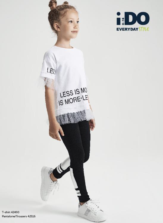 Ido conjunto chica camiseta blanca con tul 1