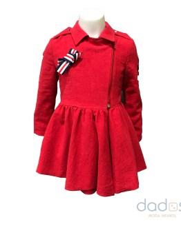 Coquelin Abrigo rojo lino niña