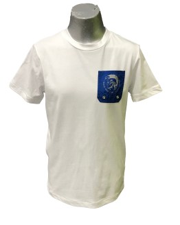 Diesel camiseta chico bolsillo azulón