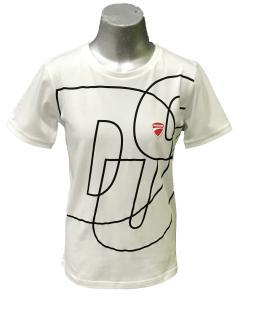 Sarabanda colección Ducati camiseta chico blanca maxi logo