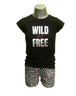 Ido conjunto short animal print con camiseta negra
