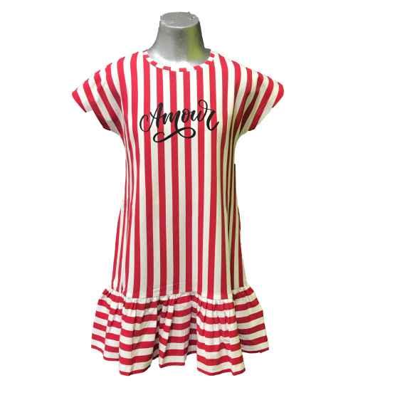 Ido vestido rayas rojas y blancas strech
