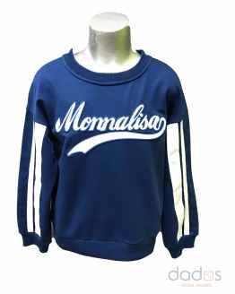 Monnalisa sudadera azulona logo