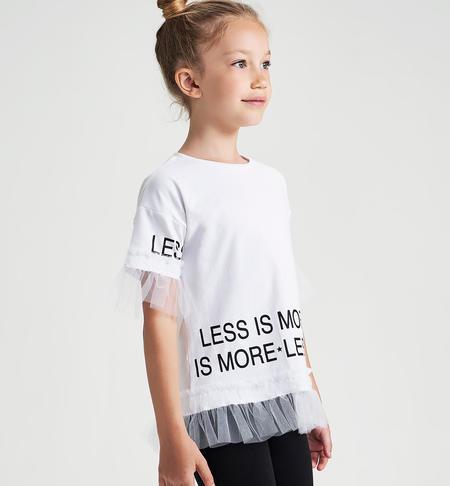Ido conjunto chica camiseta blanca con tul 2