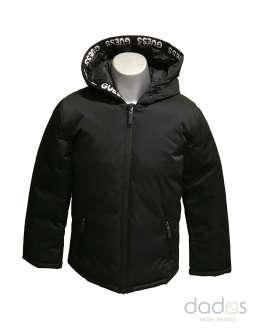 Guess chaquetón negro unisex letras