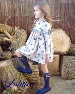 Lolittos colección Texas vestido felpa recto
