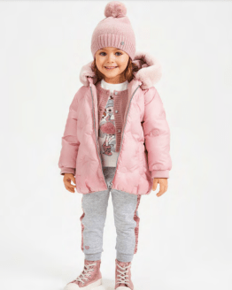 Sarabanda abrigo niña térmico rosa
