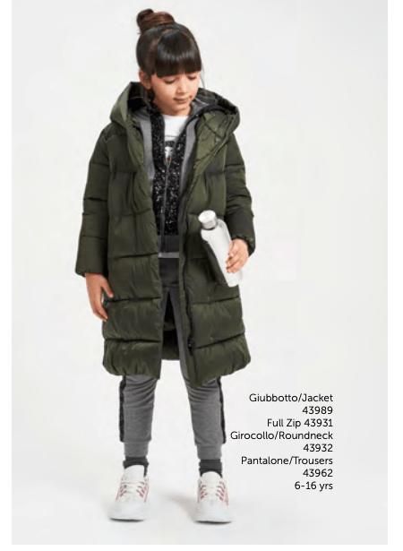 Ido abrigo chica térmico verde militar