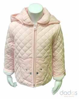 Ido chaquetón bebé microfibra térmico rosa osito