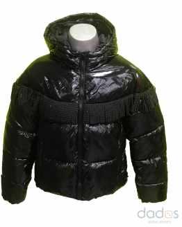 Sarabanda chaquetón chica térmico negro con flecos