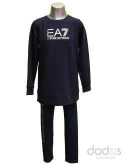 Armani EA7 conjunto chica legging y sudadera azul navy