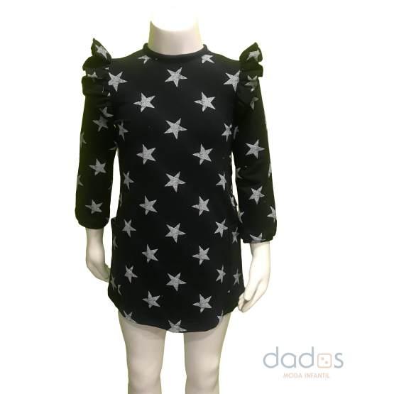 Cocote vestido estrellas negro