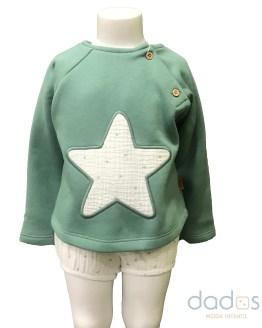 Cocote conjunto bebé niño sudadera estrella verde