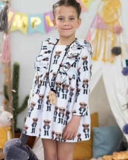 Mon Petit Bonbon Vestido estampado Oso