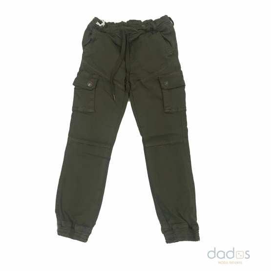 Ido pantalón niño cargo verde kaki