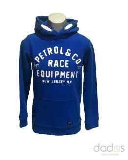 Petrol sudadera chico capucha azul eléctrico Race