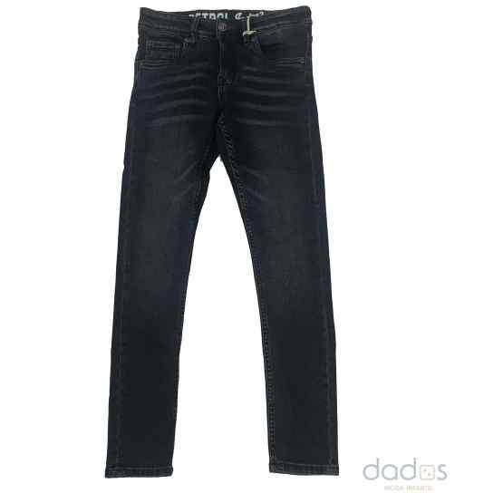 Petrol pantalón chico denim azul oscuro elástico
