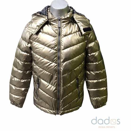 Guess chaquetón Unisex dorado térmico