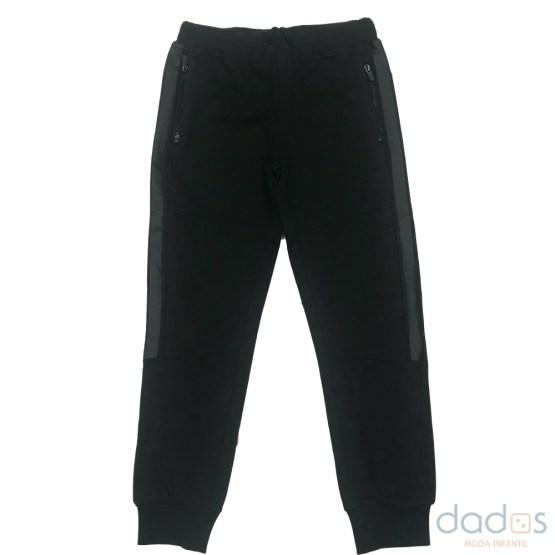IDO jogging chico negro banda lateral