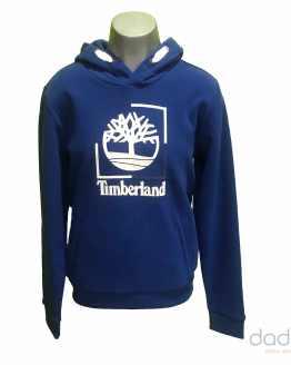 Timberland sudadera chico azul eléctrico logo