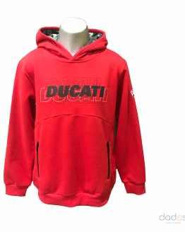 Sarabanda colección Ducati sudadera chico roja letras engomadas