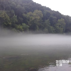 Cow Shoals at Heber Springs on the Little Red River - Early Morning Fog