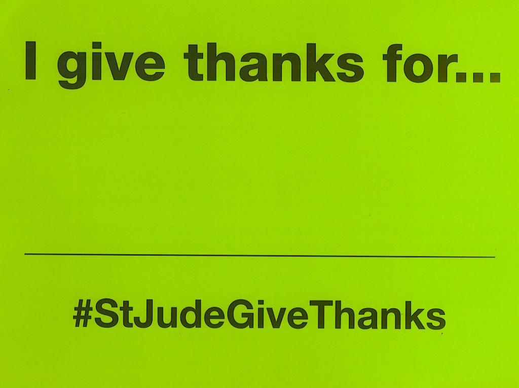 #StJudeGiveThanks