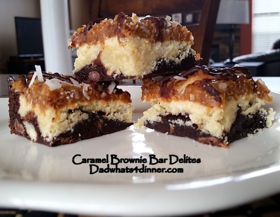 Caramel Brownie Bar Ddelites | www.dadwhats4dinner.com