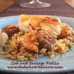 One Skillet Cod and Shrimp Paella | www.dadwhats4dinner.com