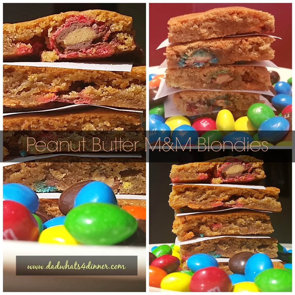 Peanut Butter M and M Blondies