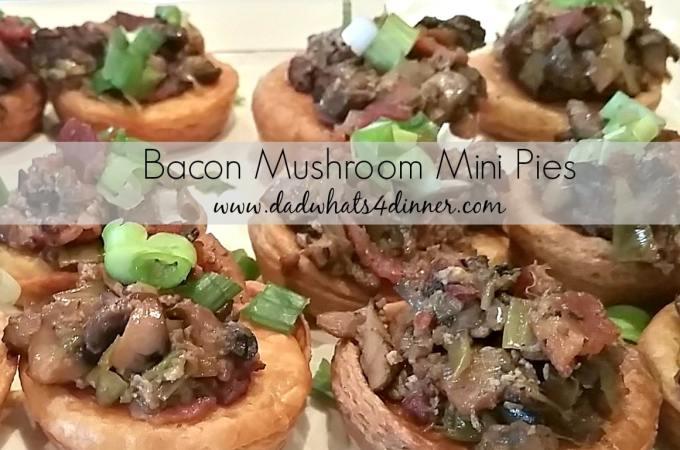 Bacon Mushroom Mini Pies