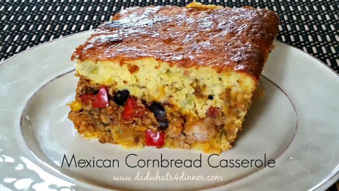 Mexican Cornbread Casserole www.dadwhats4dinner.com