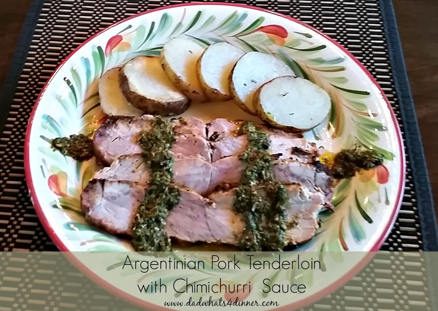 Grilled argentinian pork tenderloin dad whats 4 dinner super easy grilled argentinian pork tenderloin served with chimichurri sauce is bursting with fresh flavors forumfinder Image collections
